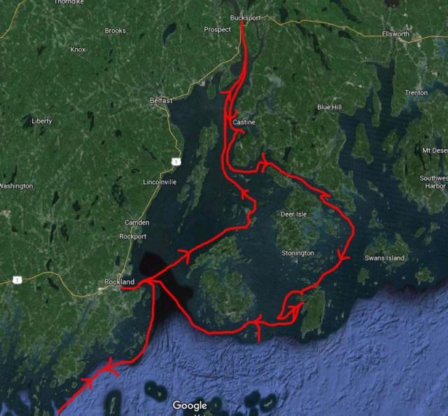 Cruising the penobscot to Bucksport and isle au Haut