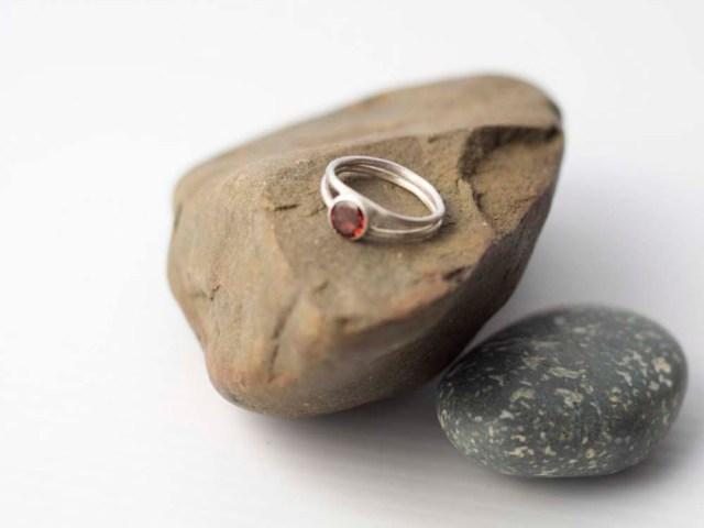 Bright Beyond Belief - Red Garnet Ring