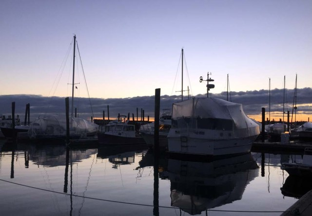 DiMillo's marina in the winter