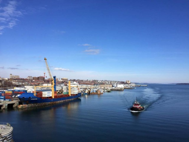 A beautiful winter day in Portland, Maine