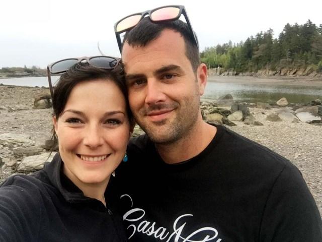 Jon and Leah on the beach at Jewel