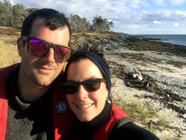 Leah and Jon on Richmond Island, Maine