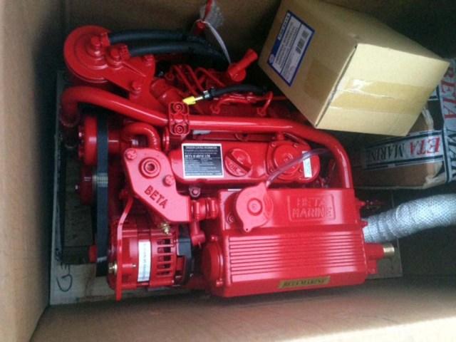 The new Beta 25 diesel engine - still in the box!