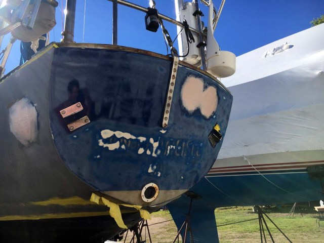 Painting the topsides - sanding the topsides