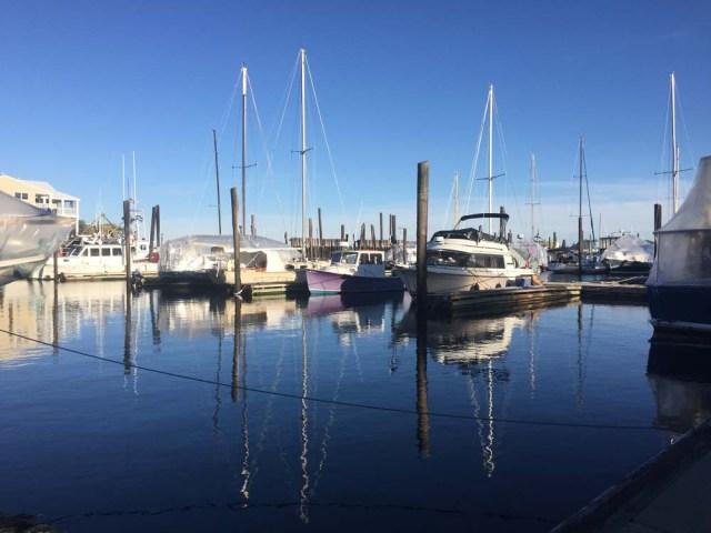 Liveaboard life - winter at DiMillos Marina, Portland, Maine