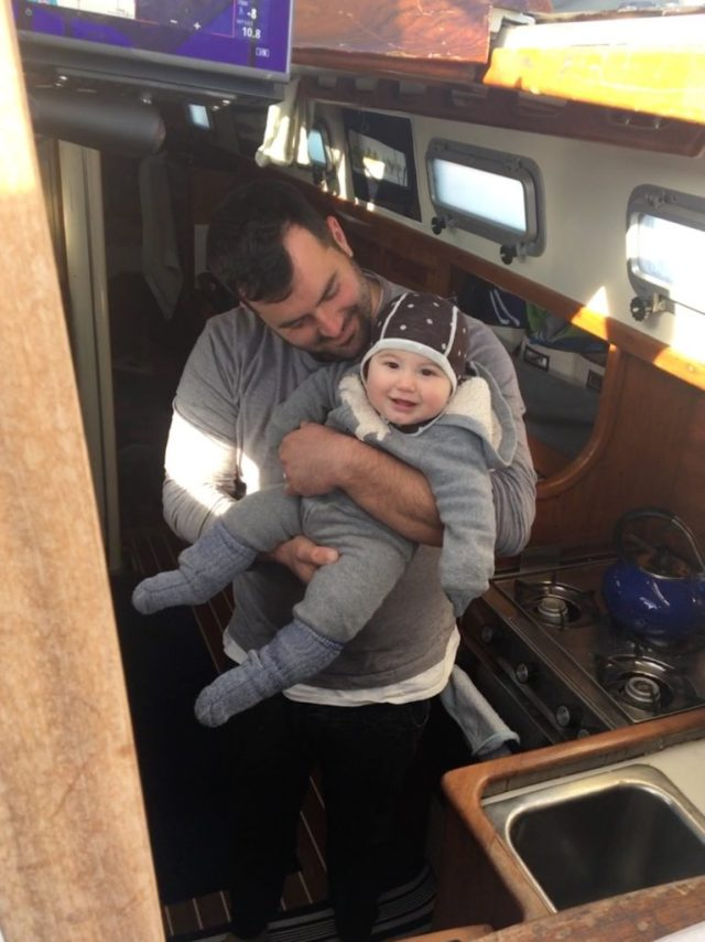 Sailing with Zephyr - six month old baby on a boat