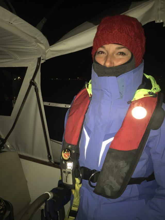 Night watch in Buzzard's Bay in November -- BRRRR