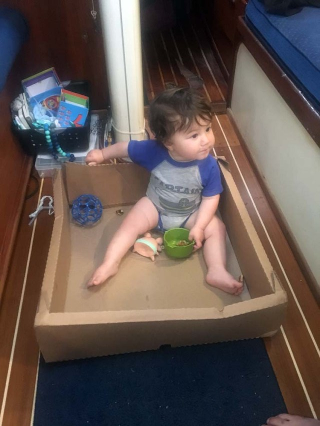 Boat baby in the radar box