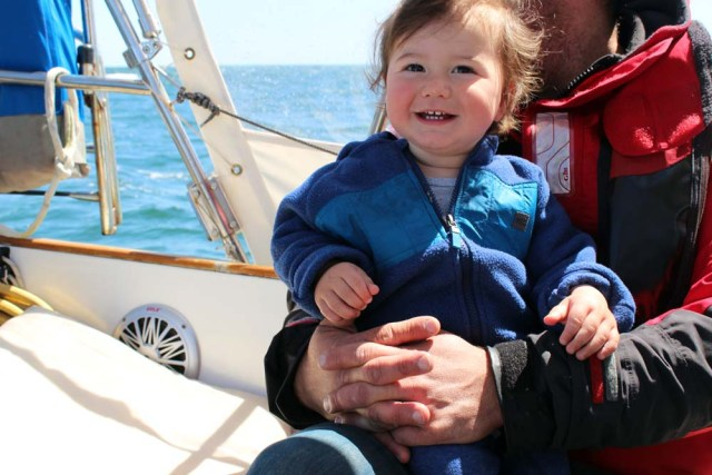 Sailing with a baby on a little cruising sailboat