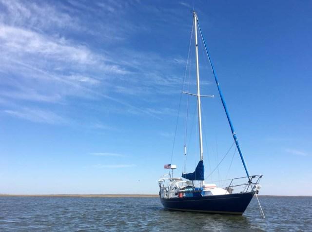 Nor'West 33 Sailboat at Anchor in South Carolina