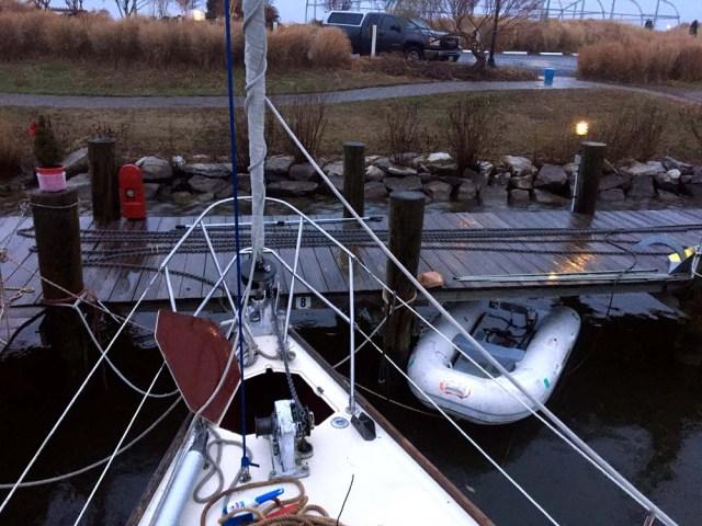 Loading the anchor chain onto Brio II