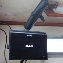 8 Electronics B&G Radar Chartplotter Startup on RAM mount