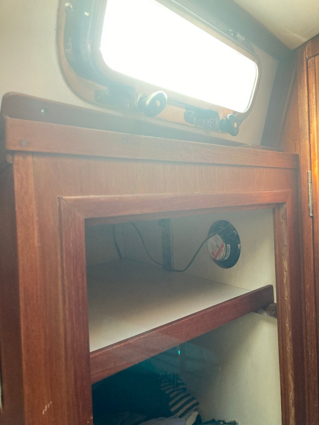 Sabre 42 Sailboat Hanging Locker with New Shelves