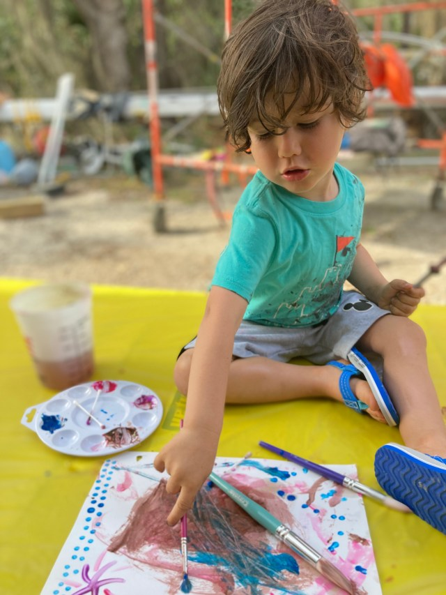 Living in the boatyard with a toddler on the hard is sometimes hard