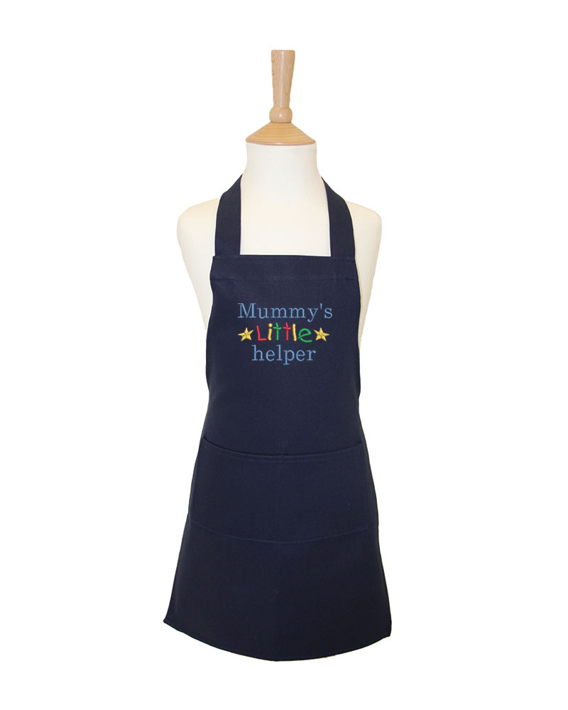 Embroidered Childrens Mummys little helper Apron