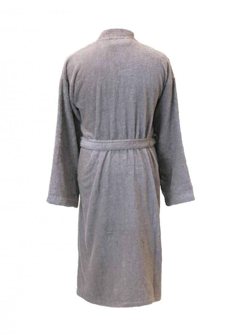 Personalised Cotton Bathrobe Dressing Gown  Grey  WithCongratulations