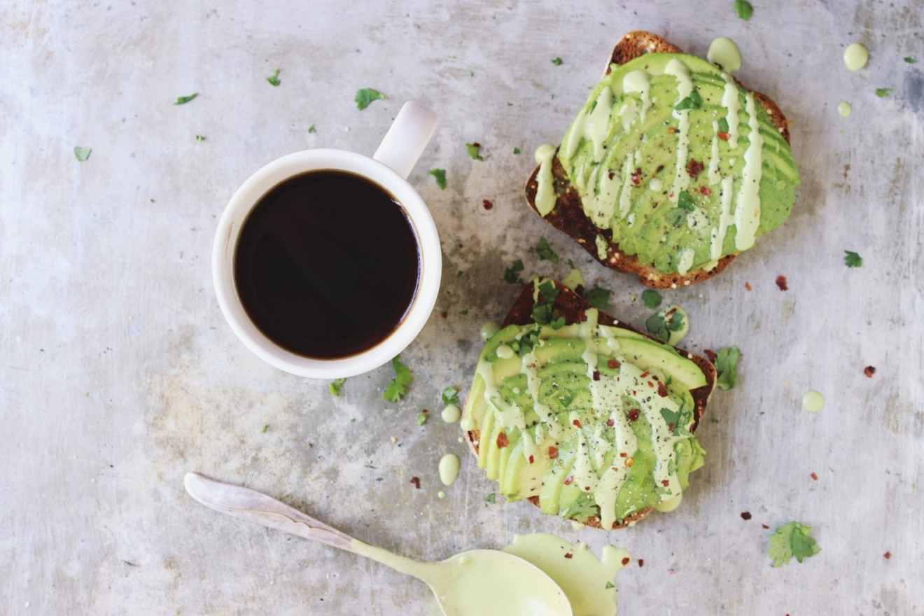 Avocado Toast with Cilantro Lime Cashew Cream | With Food + Love