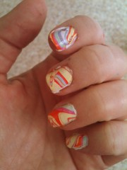 easter egg nails water marbling
