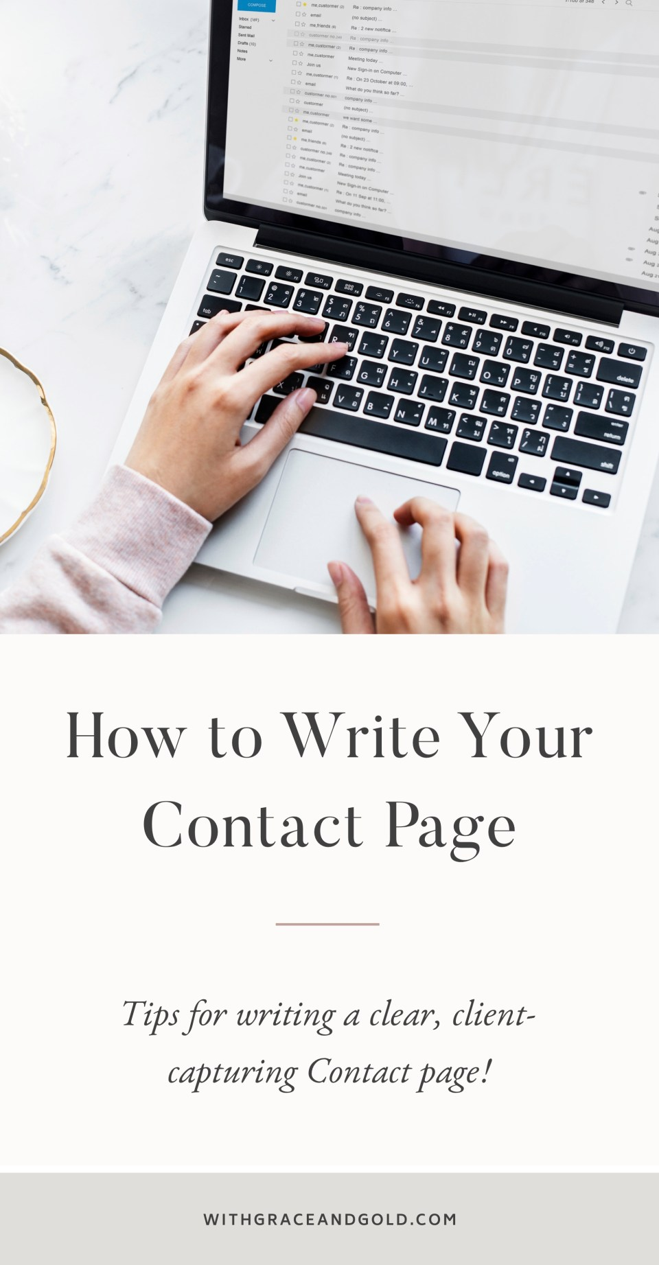 How to Write Your Contact Page by With Grace and Gold