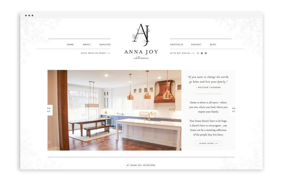 Anna Joy Interiors - Showit Web Design for Interior Designer - With Grace and Gold - 4