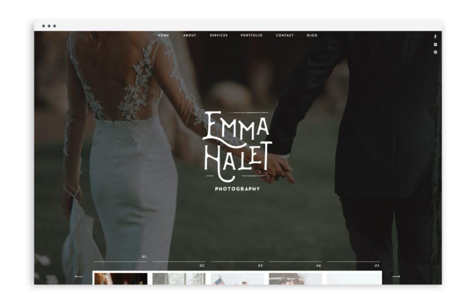 Emma Halet Photography - Brand and Custom Showit Web Design Website by With Grace and Gold - Photo - 1