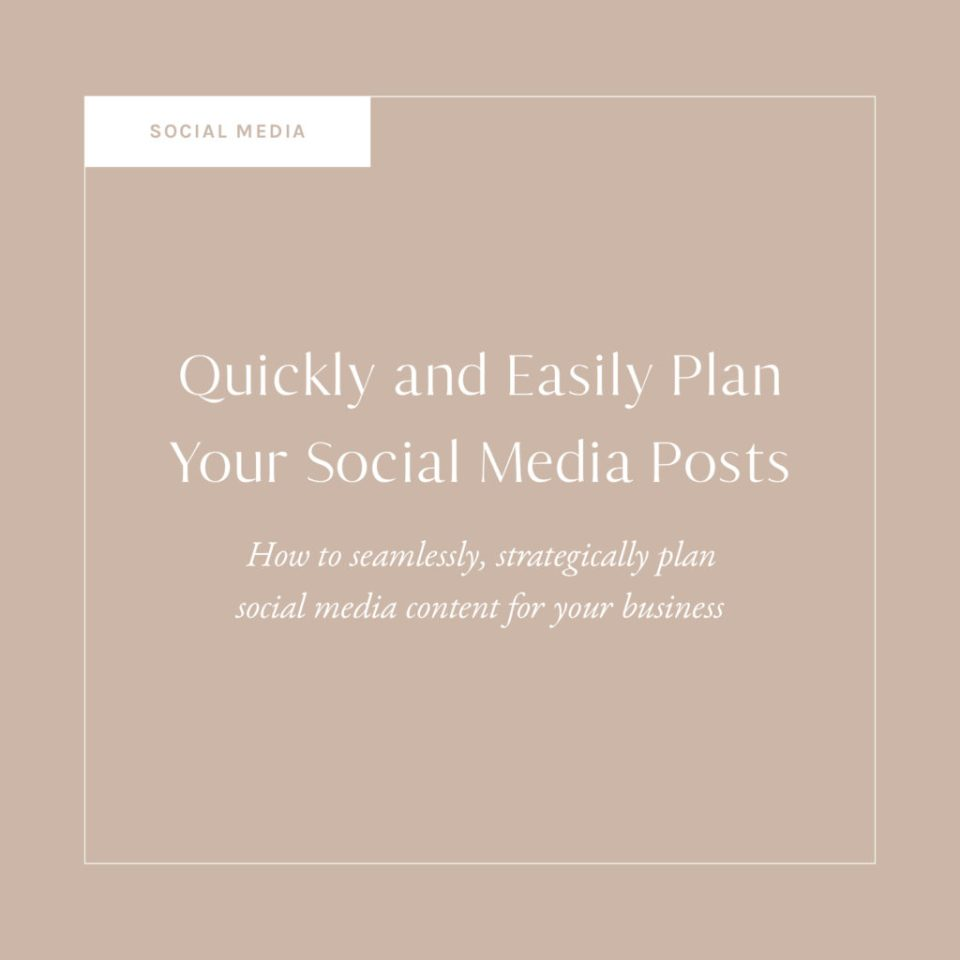 Quickly and Easily Plan Your Social Media Posts
