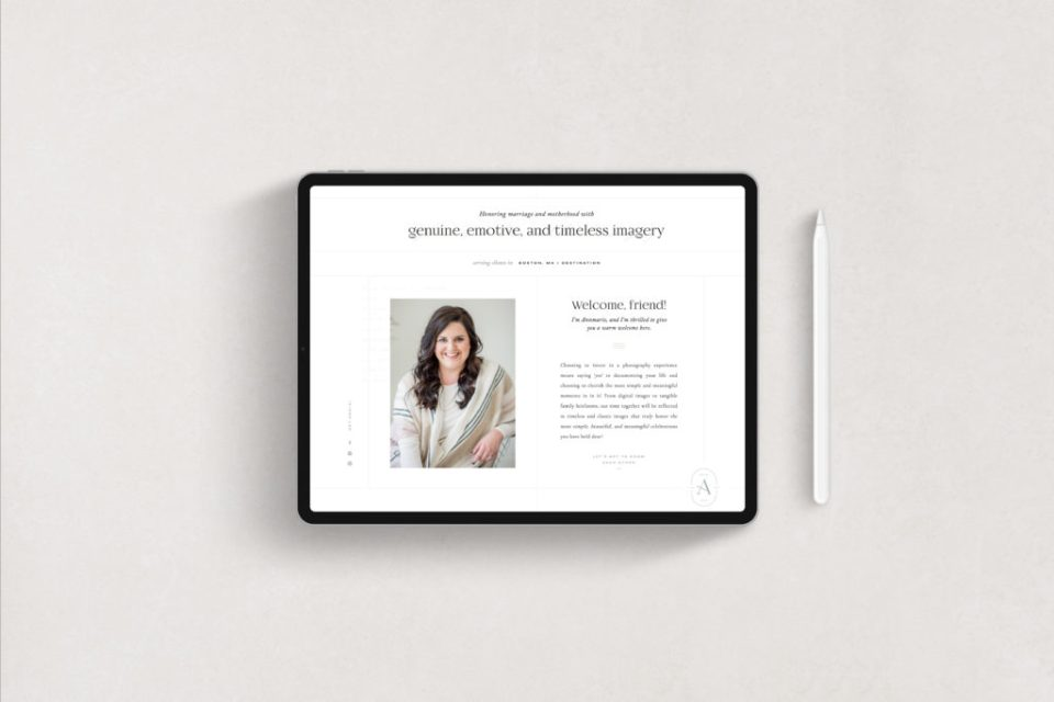 Showit Template, Showit Templates, Showit Website, Showit Websites - Annmarie Swift Photography by With Grace and Gold - Website for Photographers - 7