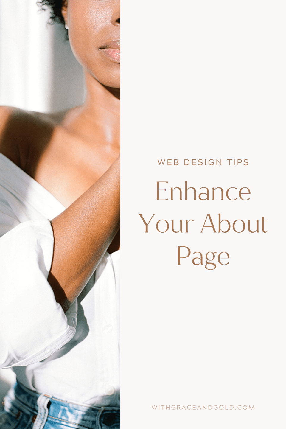 Elevate and Enhance Your About Page - With Grace and Gold - Best Custom Brand Logo and Showit Web Website Design Designs Designer