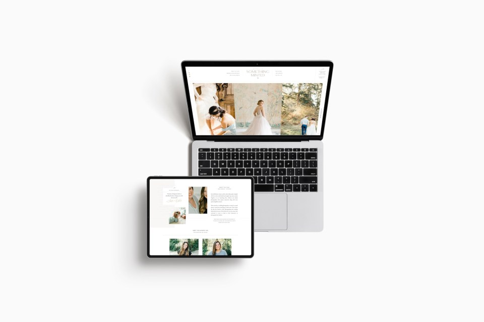 Custom Brand and Showit Web Website Design for Something Minted Photography by With Grace and Gold - 4