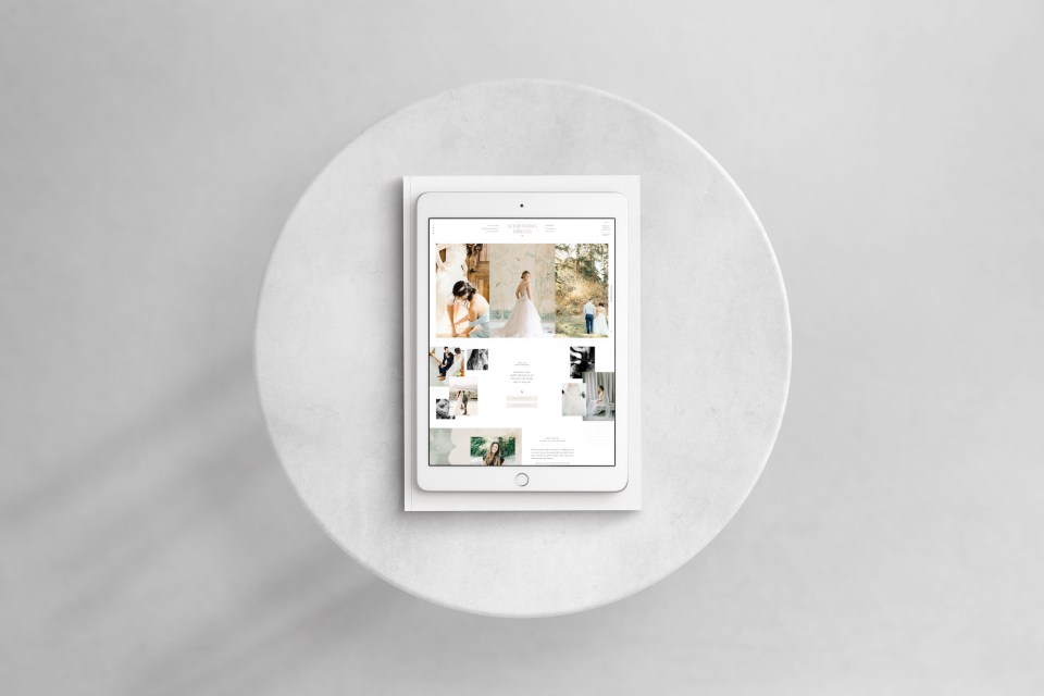 Custom Brand and Showit Web Website Design for Something Minted Photography by With Grace and Gold - 5