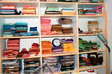 The fabric wall - folded and delightful!