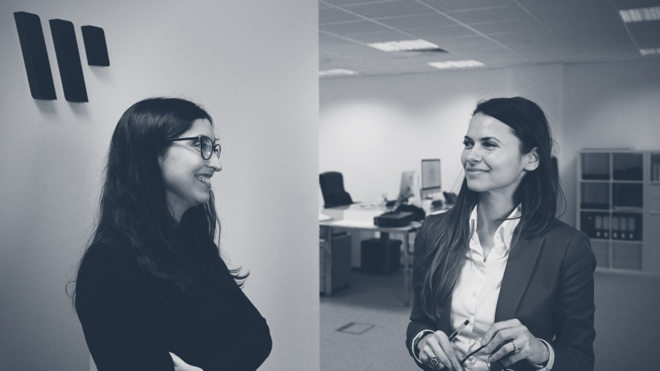 Ana Rita Teodor and Ruxandra Radulescu in the Within International London office