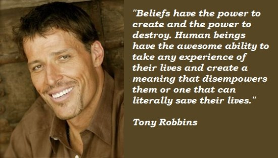 The AMAZING Tony Robbins' words of wisdom