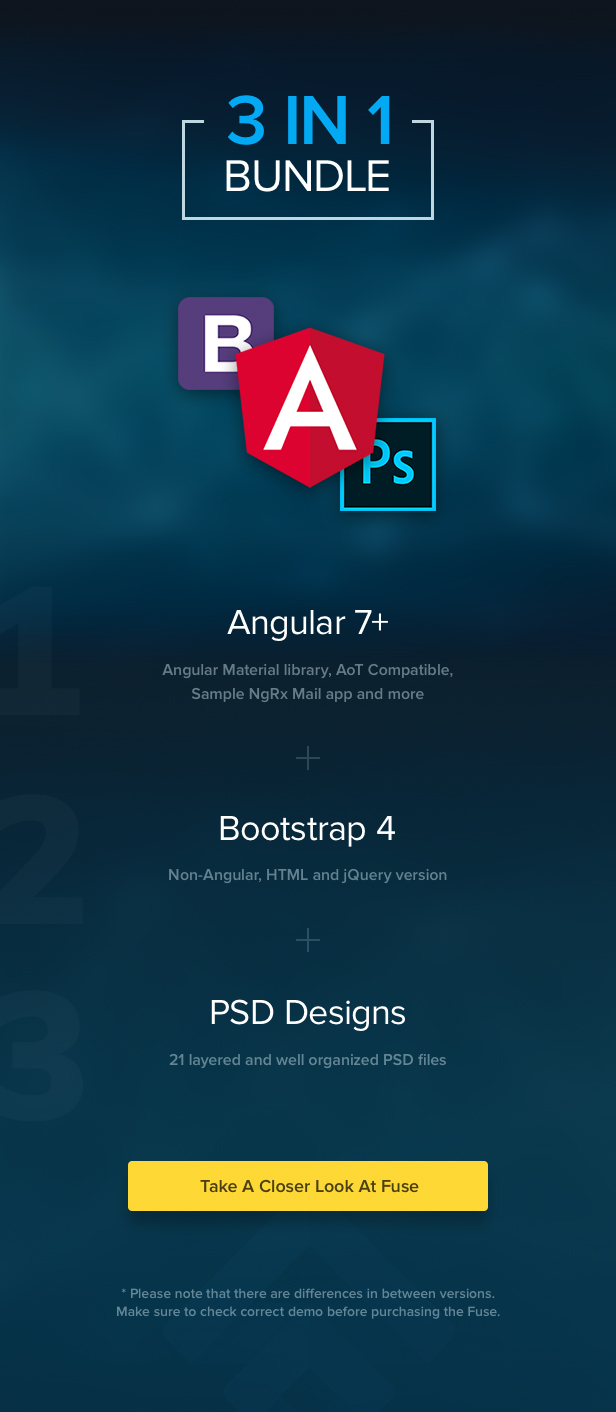 Fuse - Angular 6+ & AngularJS & Bootstrap 4 HTML Material Design Admin Template