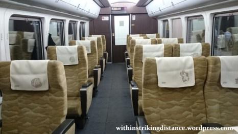 28Jun15 002 Japan Honshu Chizu Express JR West HOT7000 Series DMU Train Green Car