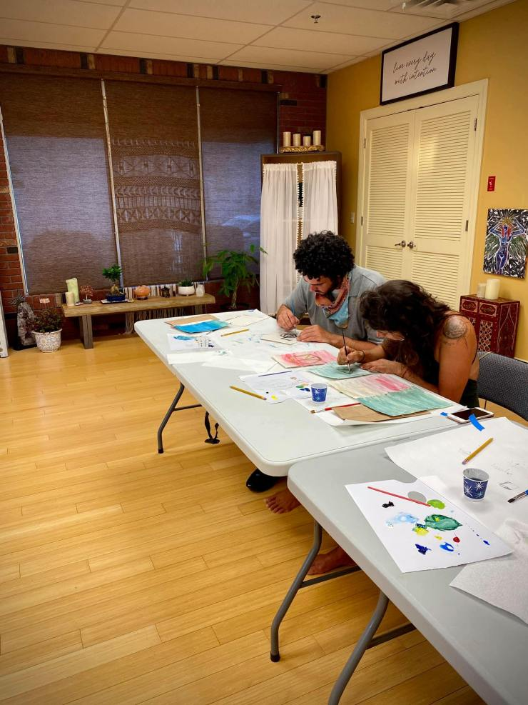 Art Making Workshop during our Grand Opening Weekend