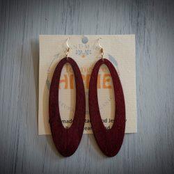 Tennessee Hippie - Guitar Wood Earrings, Purpleheart