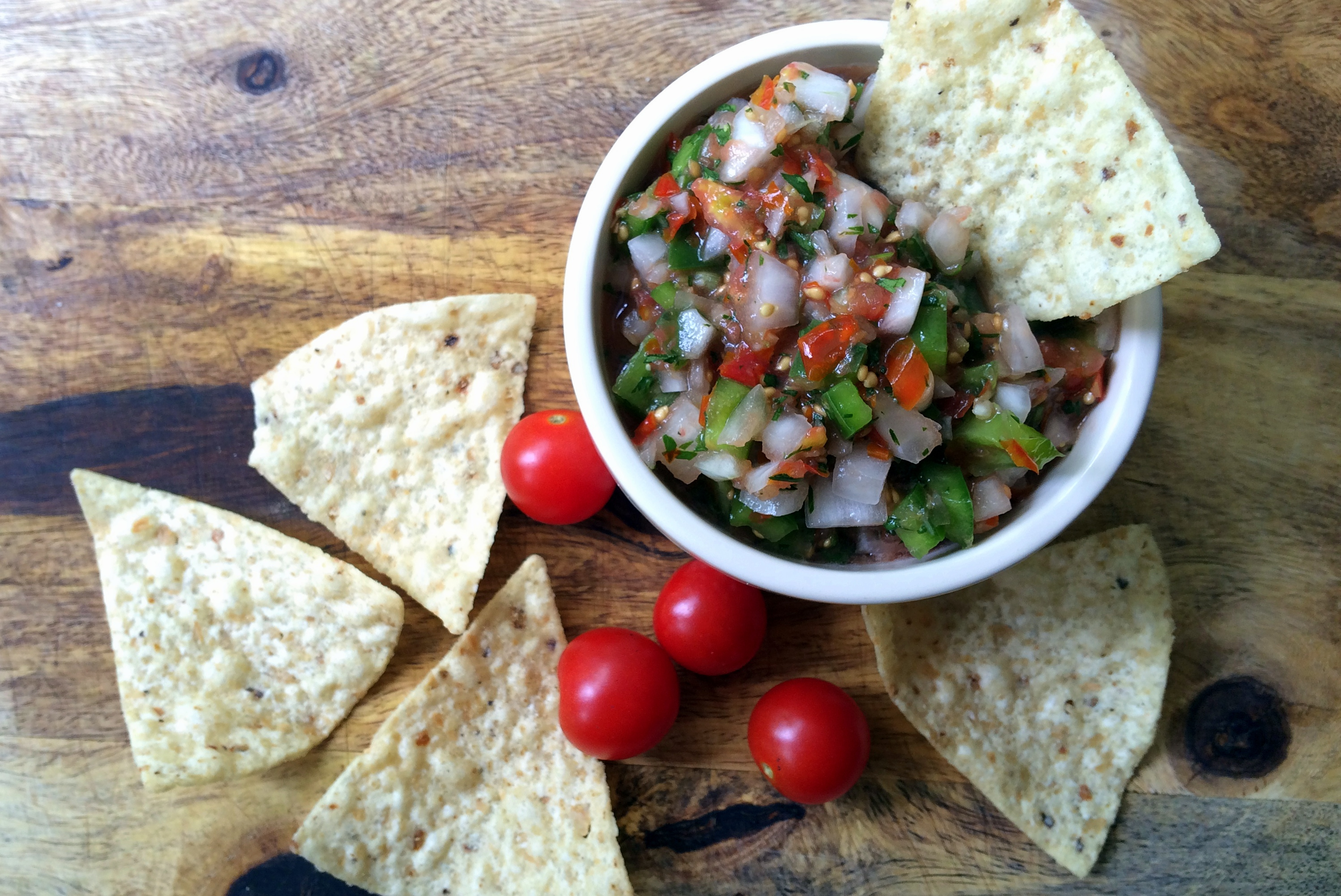 Homemade salsa fresh from the garden