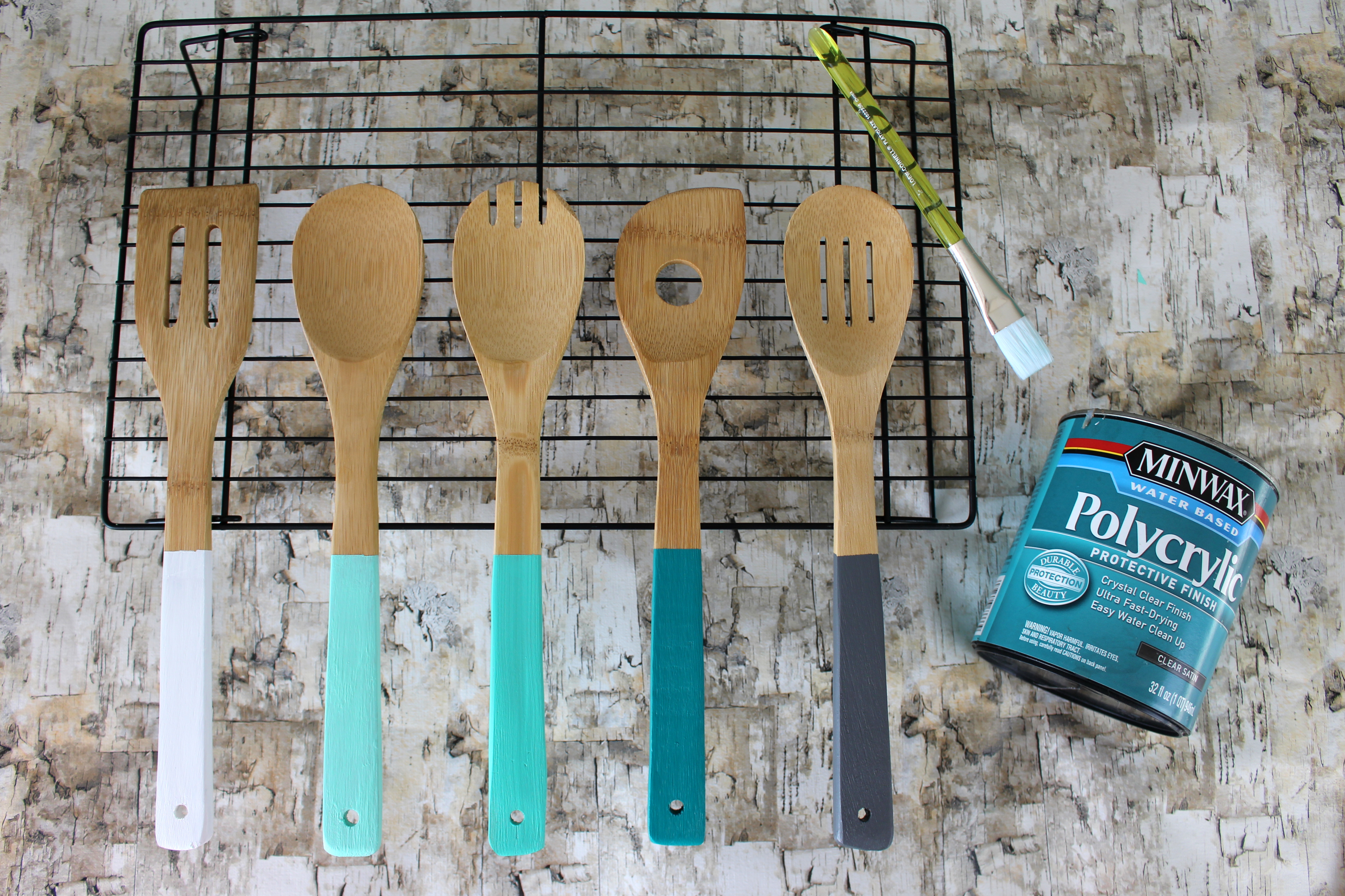 Sealing your painted kitchen utensils