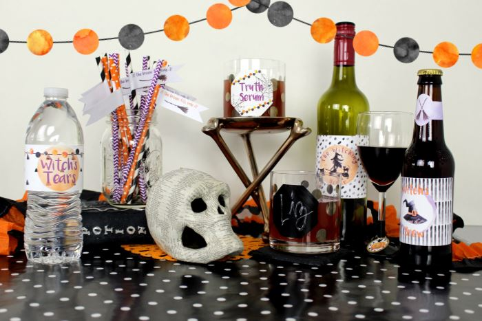 Halloween Drink Labels for a Halloween Party