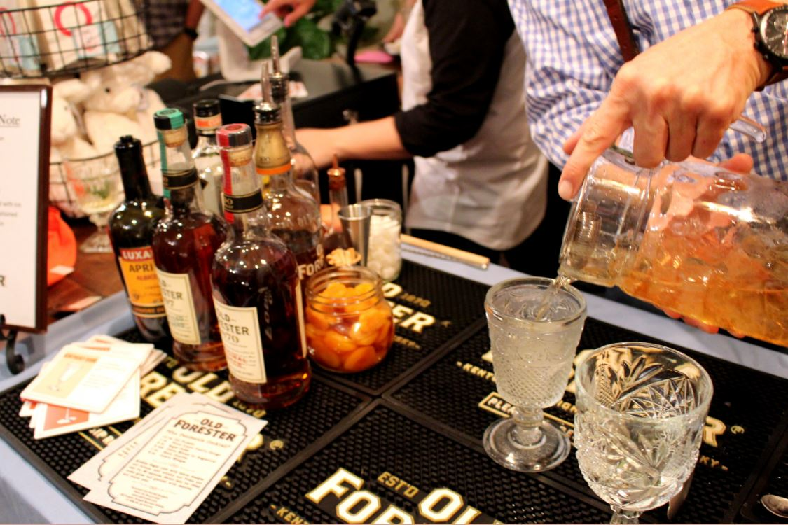 Old Forester, Michael Ring, makes a delicious bourbon drink