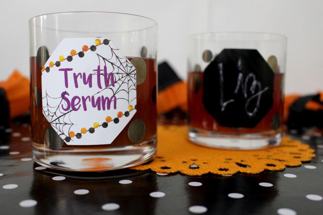 Truth Serum Cocktail Glass Label