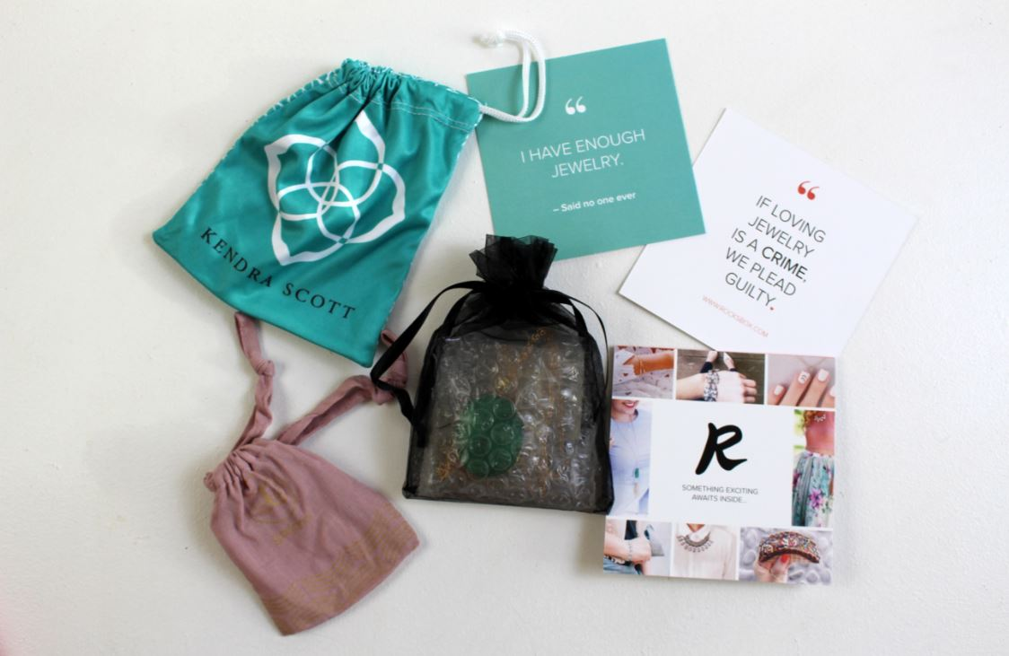 Monthly subscription to jewelry through Rocksbox