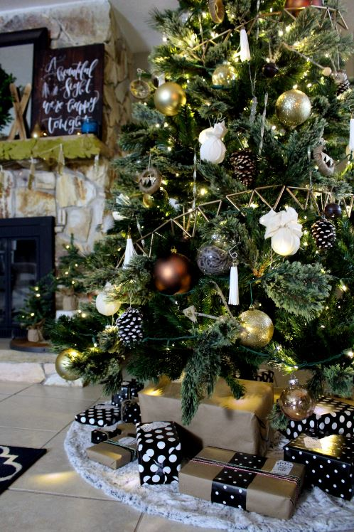 Christmas Tree decorations for a lodge feel