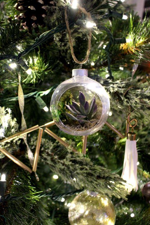 DIY Succulent ornament