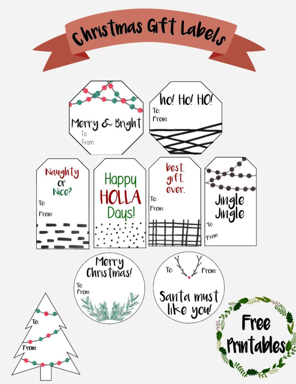 Free Printable for Christmas Tags