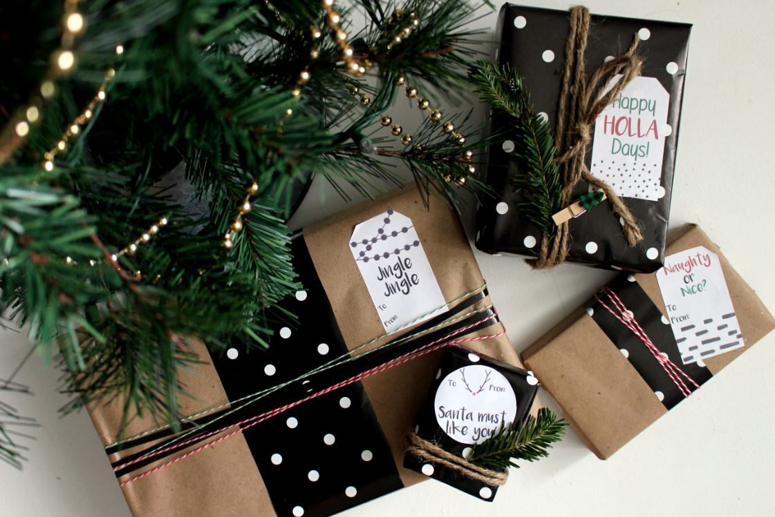 Add flair to your holiday gifts by adding a fun label.