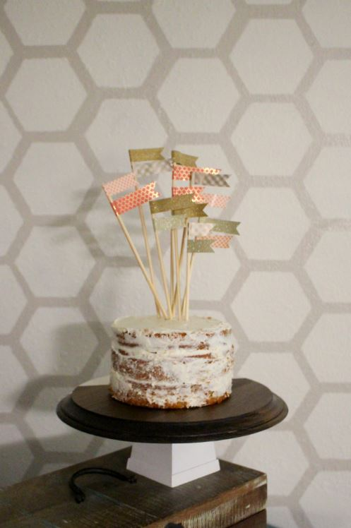 Creating a wooden cake stand
