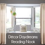 Creating a reading nook in a bay window.
