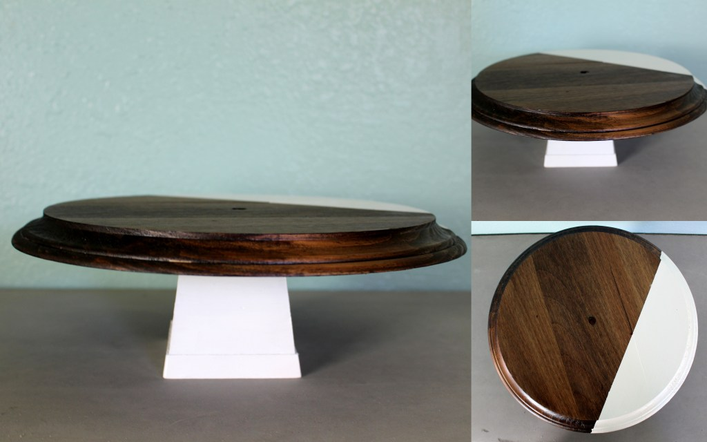 DIY Wooden Cake Stand to make for your next party.